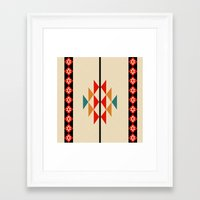 fabric Framed Art Prints featuring fabric by zenaadhami