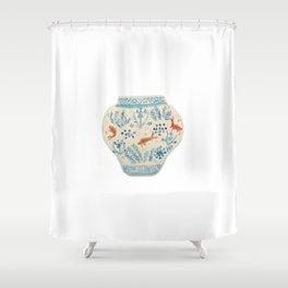 Goldfish Ginger Jar  Shower Curtain