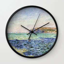 1882-Claude Monet-Shadows on the Sea. The Cliffs at Pourville-57 x 80 Wall Clock