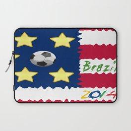 USA Soccer in Brazil 2014 Laptop Sleeve