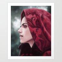 ruby Art Prints featuring Ruby by Svenja Gosen