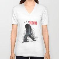 sasquatch V-neck T-shirts featuring Sasquatch by Srg44