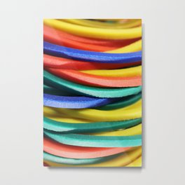 Colored Rubbers Stack Metal Print