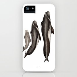 Short-finned pilot whale (Globicephala macrorhynchus) iPhone Case