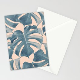 Tropical Monstera Leaves Dream #5 #tropical #decor #art #society6 Stationery Cards