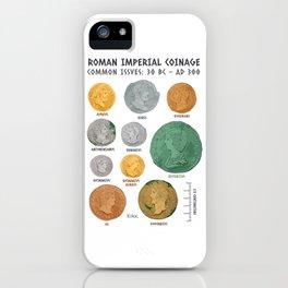 Roman Coin Chart iPhone Case