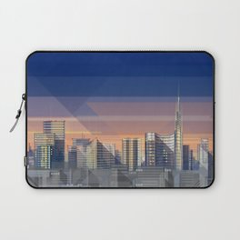 Futuristic Milan Skyline Laptop Sleeve