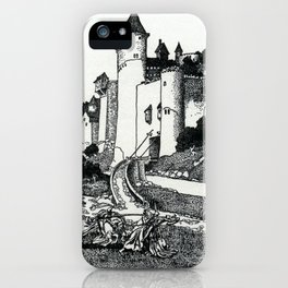 Two Knights do Battle before Cameliard iPhone Case