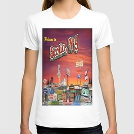 'Welcome To Scotia' Digital Photo Collage made with Macintosh Preview and Microsoft Paint T-shirt