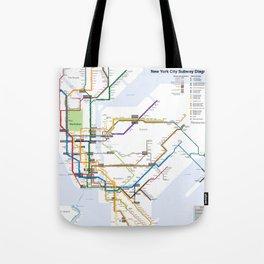 New York Subway Map Tote Bag
