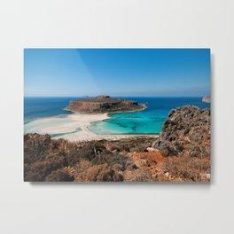 Balos Beach Metal Print