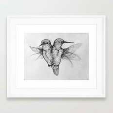 Conjoined Hummingbirds Framed Art Print