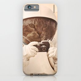Astronaut Cat on Mars iPhone Case