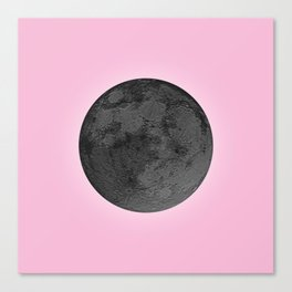 BLACK MOON + PINK SKY Canvas Print