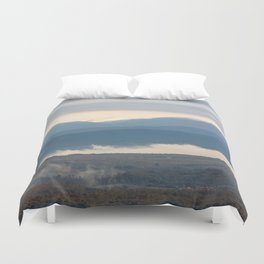 Snow covered italian Apennine Mountains Duvet Cover