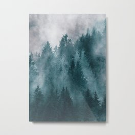 Foggy Forest 4 Metal Print