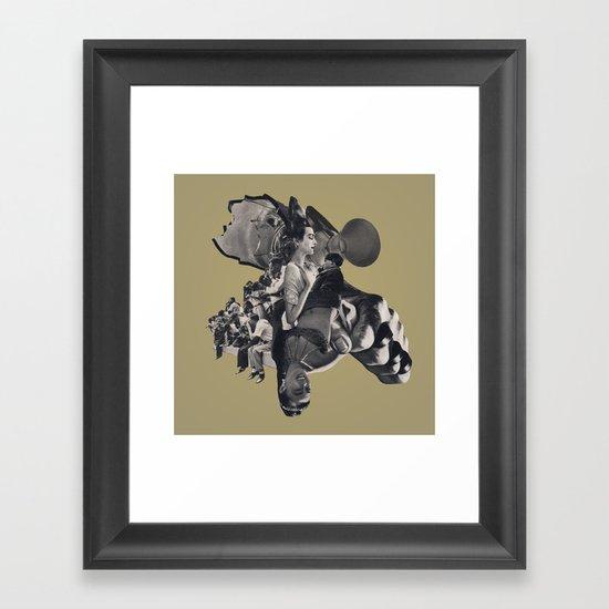 Silent in Silver Framed Art Print