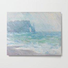 Regnvær Etretat by Claude Monet, 1886 Metal Print
