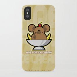 Ape for Ice Cream iPhone Case
