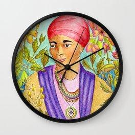 Woman With Adinkra Wall Clock