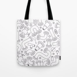 Set of Pipe System Elements. Modern Vector Pattern Tote Bag
