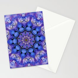 Summer sky Delphinium mandala Stationery Cards