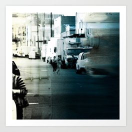 City Stripes Art Print