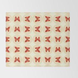 Red butterflies Throw Blanket