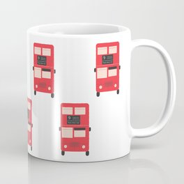 Red Double Decker Bus Pattern - London Coffee Mug
