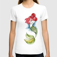 little mermaid T-shirts featuring Little Mermaid by Ines92