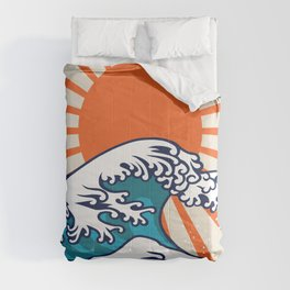 The Great Wave off Kanagawa, japanese wave poster, digital print, great wave of kanagawa, japan wave Comforters