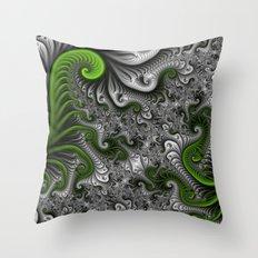 Fantasy World, abstract Fractal Art Throw Pillow