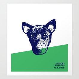Support Bali Dogs Art Print
