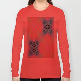 vintage bohemian colorful pastel colors abstract pattern Long Sleeve T-shirt