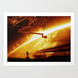 Red Sun Chronicle Art Print