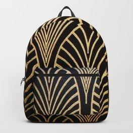 Art nouveau Black,bronze,gold,art deco,vintage,elegant,chic,belle époque Backpack