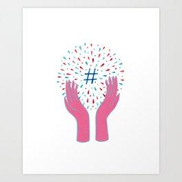 Hashtag Art Print