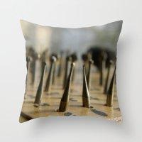 tool Throw Pillows featuring Jewel tool by Tamar Isaak