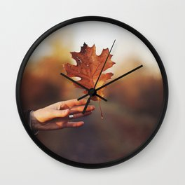 Catching a bit of Autumn Wall Clock