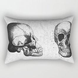 Vintage Medical Engravings of a Human Skull Rectangular Pillow