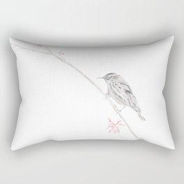 Spring Sparrow Rectangular Pillow