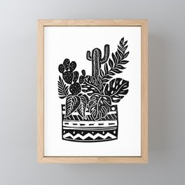 Botanical Pot Block Print Framed Mini Art Print