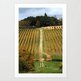 Under the sun of Tuscany Art Print