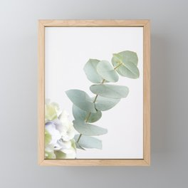 Gentle Soft Green Leaves #1 #decor #art #society6 Framed Mini Art Print