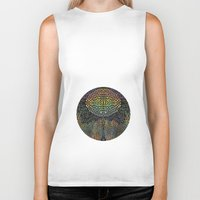 biology Biker Tanks featuring Tree of New Life by Klara Acel