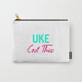 Uke Got This Ukulele Strumming Through Life Ukelele Music Carry-All Pouch
