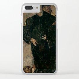 "Egon Schiele ""The Hermits"" Clear iPhone Case"