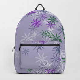 Lavander glow flower power Backpack