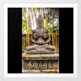 Patung Bhuda Mendut Buddhist Monastery Art Print