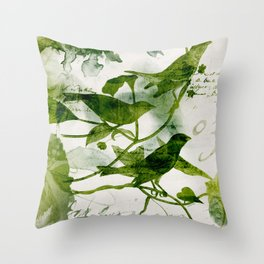 Birds (square 3) Throw Pillow